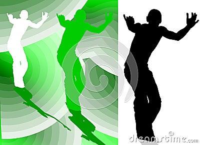 Dancing Boy Silhouette