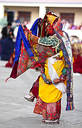 Dancing buddhists lama Editorial Stock Image