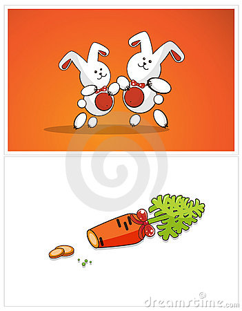 Dancing bunnies and carrots