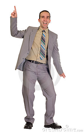 Dancing Businessman