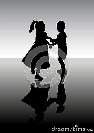 Dancing children.