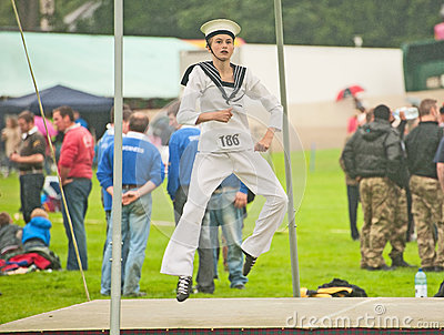 Dancing competition at Forres Highland Games Editorial Image