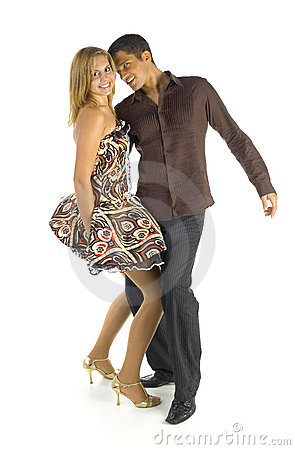 Free Dancing Couple On White Royalty Free Stock Photos - 3462088