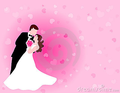 Dancing couple with pink background