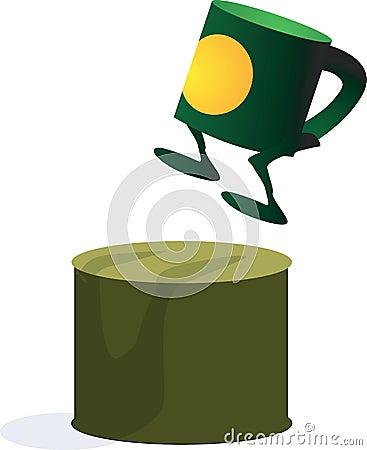 Dancing cup