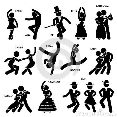 Dancing Dancer Pictogram