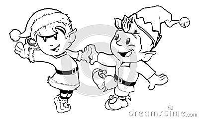 Dancing di natale degli elfi