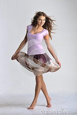 Dancing  emotion girl