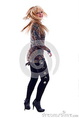 Dancing Fashion Blondie Girl.