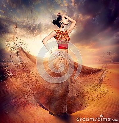 Dancing Fashion Woman