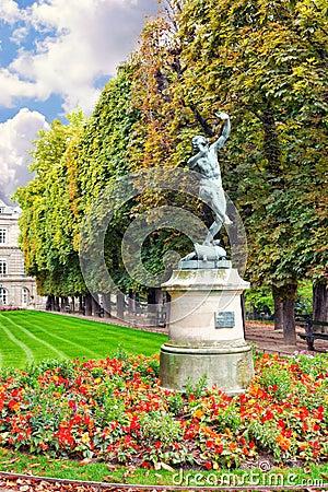 Dancing Faun. Luxembourg Garden(Jardin du Luxembourg)  in Paris,