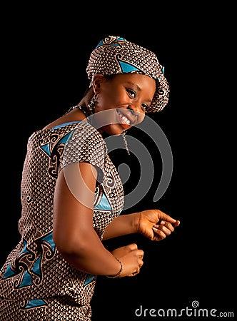 Dancing Ghanese woman