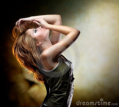 Free Dancing Girl Stock Photo - 23305730
