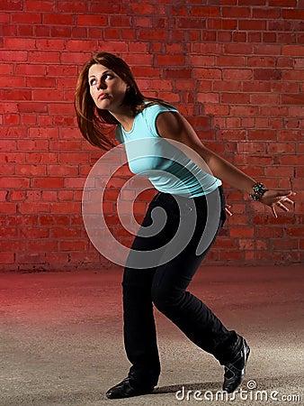 Free Dancing Girl At A Loss Royalty Free Stock Photo - 4570715