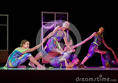 Dancing girls, Flip-Flap Editorial Photo