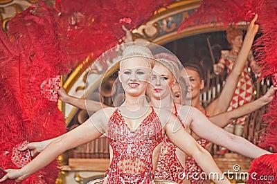Dancing girls at Pickering Rally Editorial Stock Photo