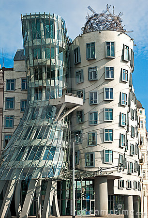 Dancing house in Prague Editorial Photography