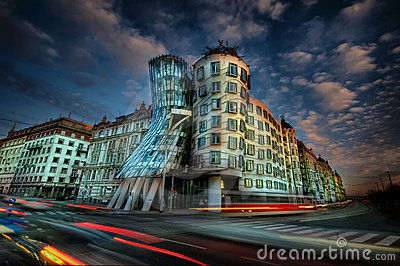 Dancing House, Prague Editorial Photo
