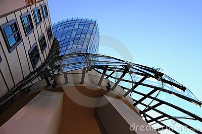 Dancing house in the Prague Editorial Photography