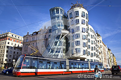 Dancing house, Prague Editorial Photography