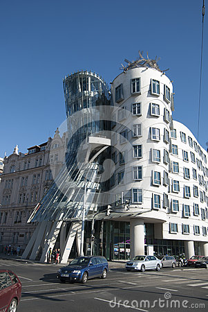 Dancing House, Prague, Czech Republic Editorial Stock Image