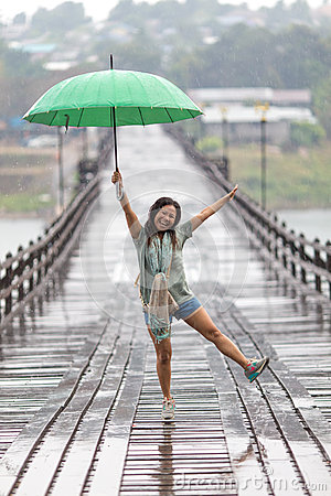 Free Dancing In The Rain Stock Photography - 66902582