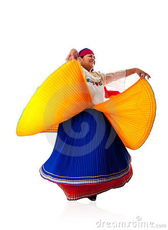 Dancing Latin Gypsy woman
