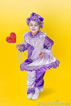Valentine dancing clown