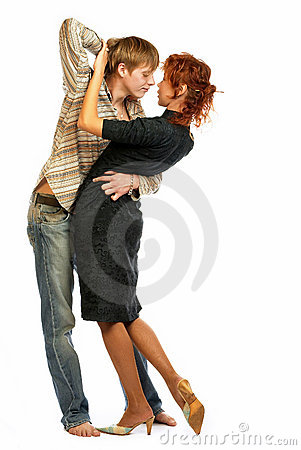 Dancing loving couple.