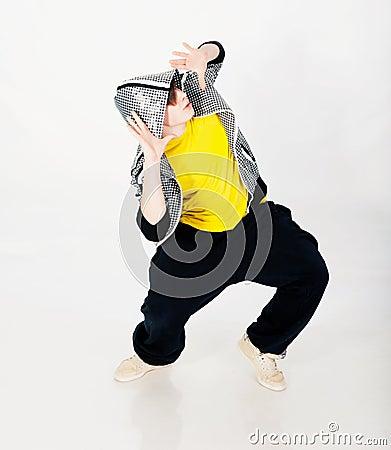 Dancing man in studio