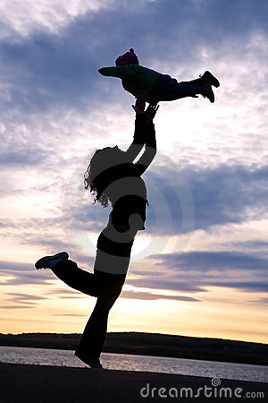 Free Dancing Mom With Child Stock Photos - 18441913