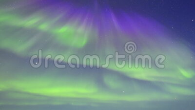 Beautiful Northern lights in Arctic Canada stock video footage