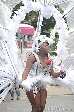 Dancing at Notting Hill Carnival Editorial Stock Image