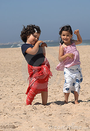 Free Dancing On The Beach Royalty Free Stock Images - 10356489