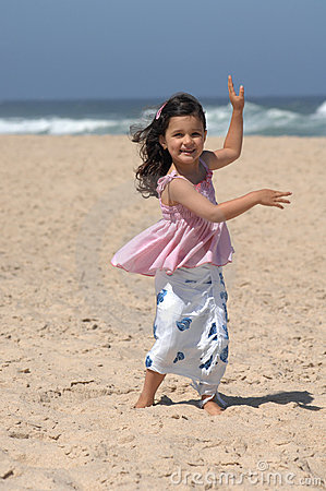 Free Dancing On The Beach Royalty Free Stock Photo - 10356555