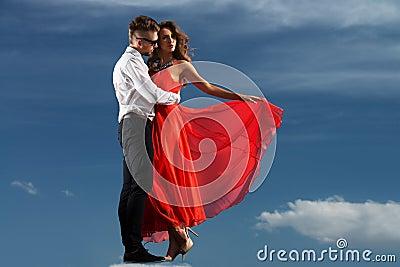 Dancing over sky