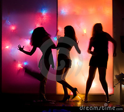 Dancing party girls