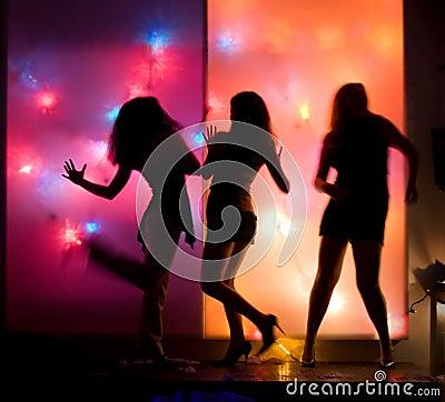 Dancing party girls