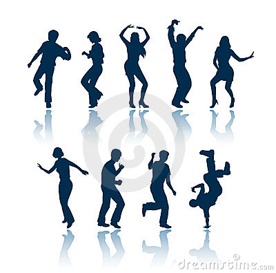 Free Dancing People Silhouettes Stock Photos - 696843