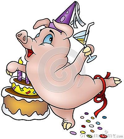 Dancing Pig - Happy Birthday