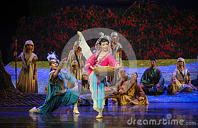 Dancing Prince-Hui ballet moon over Helan Editorial Stock Image