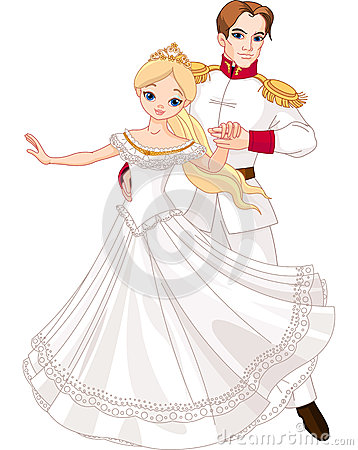 Dancing prince and princess