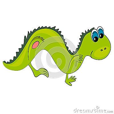 Dancing reptile. wild animal