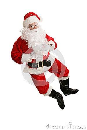 Free Dancing Santa Airborne Royalty Free Stock Photo - 3449855