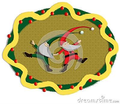 Dancing santa garland