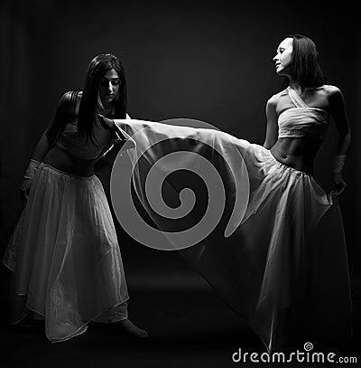 Dancing in semidarkness