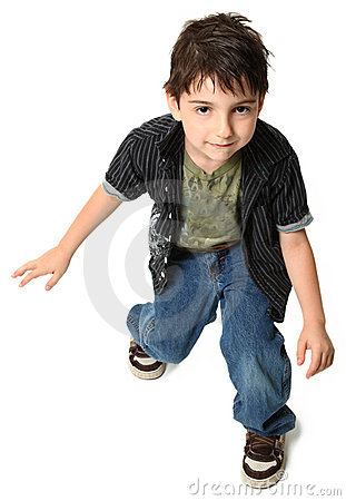 Free Dancing Seven Year Old Boy Stock Images - 13986994