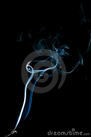 Dancing smoke abstract on black