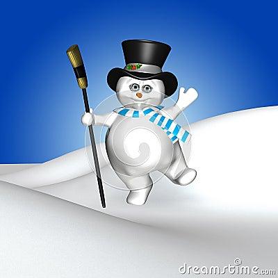 Free Dancing Snowman Royalty Free Stock Photo - 12219545