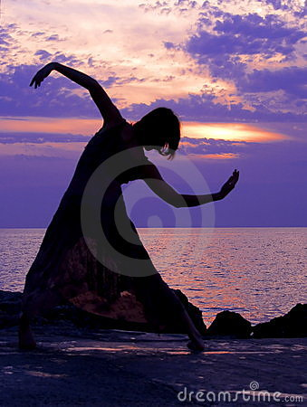 Dancing at sunset